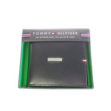 トミー ヒルフィガー 折財布 メンズ 31TL25X012-001 ブラック