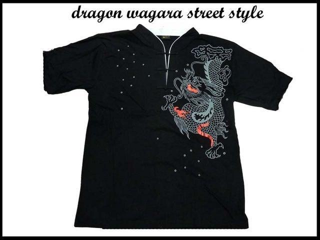 90sオールドスクールWUWEARスタイル 新品ドラゴン和柄ウーウエア系BBOYOG D11supre  < 男性ファッションの