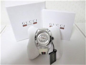 ☆GUCCI グッチ シンク 腕時計 時計 ビッグフェイス/メンズ☆ホワイト☆46mm