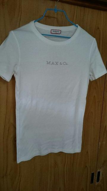 MAX&Co.■マックスアンドコー Tシャツ 半袖 ラインストーン < ブランドの