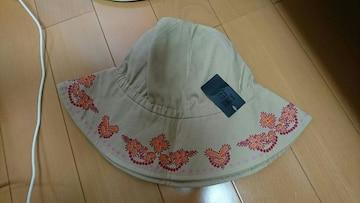 アナスイ、帽子、新品タグ付き。ベージュ。シワあり。