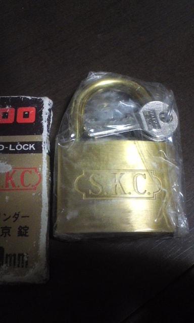SKC シリンダー南京錠 60�o 未使用品 < インテリア/ライフの