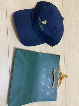 ROLEX ロレックス キャップ 帽子 ネイビー 未使用