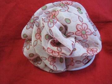 フラワー カミドメブレスリング 花柄ピンク 未使用