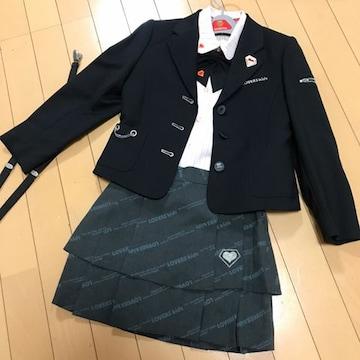 ラバーズキッズ スカートスーツ4点+サスペンダーセット 120