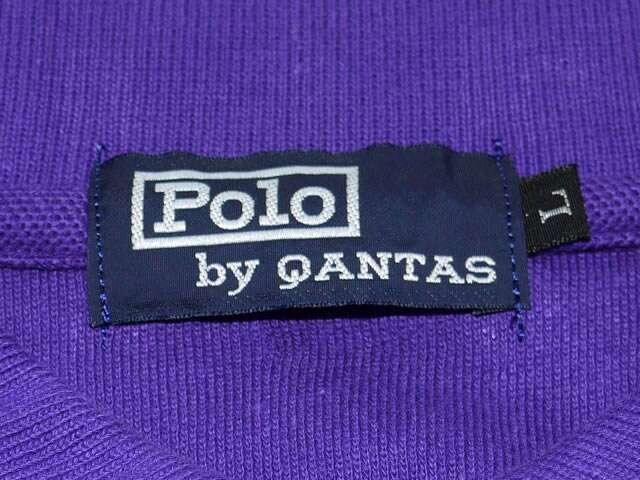 POLO by QANTAS 半袖ポロシャツ パープル < 男性ファッションの