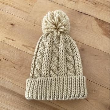 今季しまむら購入ニット帽56-59�p美品