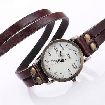 数式 腕時計 ブラウン