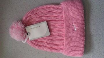 激安70%オフNIKE、ナイキ、ゴルフ、ニット帽(新品タグ、ピンク、ロゴ刺繍、フリー)