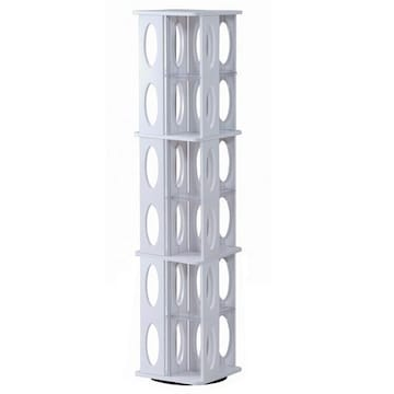 ROTATIVE CD/DVD TOWER 3段 NF-8006WH ホワイト