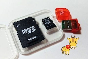 送料無料 東芝 マイクロSD 2GB microSD SDリーダー USBリーダー ケース付