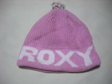 wb657 ROXY ロキシー ニット帽 ビーニー ピンク