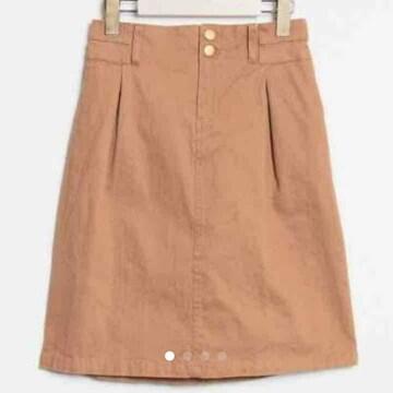 新品*レトロガール*ボックスタイトスカート*ライトブラウン