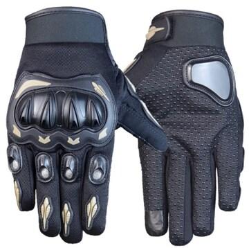 L バイク グローブ 手袋 プロテクター オートバイ グレー