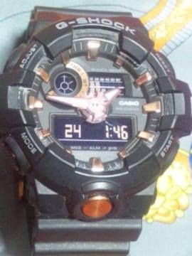 カシオGショックGA-710Bブラック×ローズゴールドアゾン価315370円