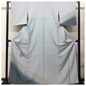 スワトウ 花模様 刺繍 訪問着 特選 正絹 裄64.5 身丈165 紋無 フ