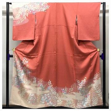 優美 作家物 訪問着 特選 正絹 裄63 身丈154.5 絵羽模様(ピン