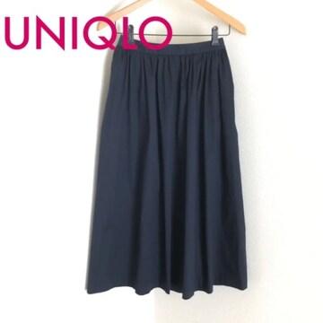 #UNIQLOスカート ネイビーM