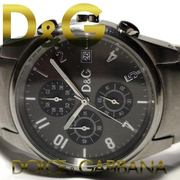 美品 1スタ★D&G ドルガバ【クロノグラフ】SANDPIPER 腕時計
