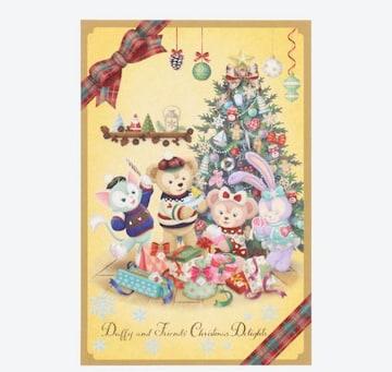 ★.+°☆ディズニー★ダッフィー  クリスマス ポストカード☆°+