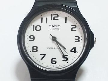 12439/CASIOカシオ★夏に最適ラバーモデルメンズ腕時計ラウンドフェイス