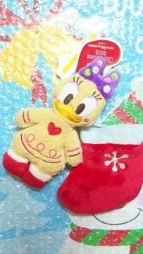 ディズニー TDL TDS クリスマス 30周年 サンタ靴下 ぬいぐるみバッジ デイジー