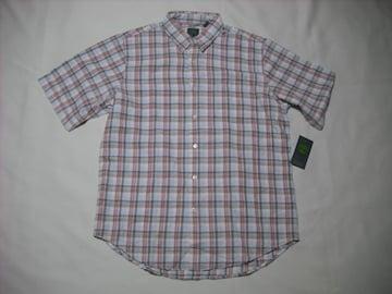 28 男 TIMBERLAND ティンバーランド 半袖チェックシャツ Mサイズ