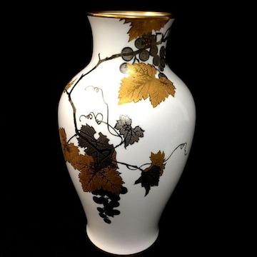 新品同様!36cm大倉陶園金蝕ぶどう花瓶