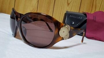 正規美 ブルガリ B-zero×チクラディ 4連装飾 ラグジュアリーサングラス 茶×金