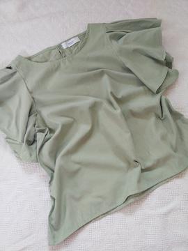 MOCA/フレア袖がかわいいコットンプルオーバー/美品