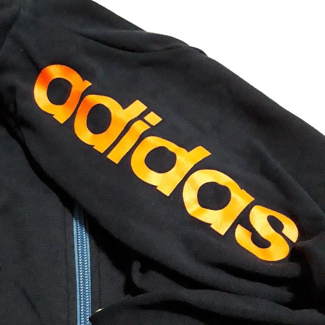 アディダス adidas ジャージ パーカー スエット ネイビー < ブランドの