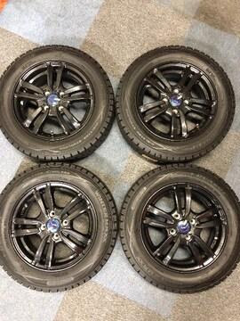 0082881ダンロップスタッドレスタイヤ新品ブラックメタリックAWセット175/65R14送料無料