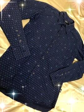 メンズS★55ディーゼル♪総柄☆長袖シャツ♪