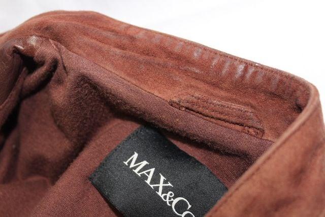 ☆MAX&Co.☆マックスアンドコー スウェード切り替えレザージャケット レディース < ブランドの