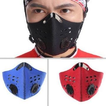 フェイス マスク/バイク*自転車に防風 防塵 防寒フィルター付