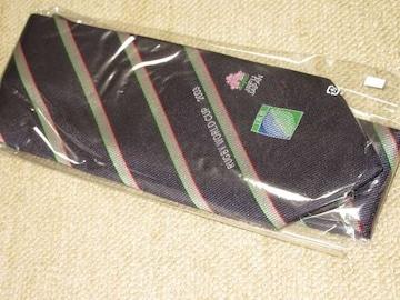 未使用☆ラグビーワールドカップ2003*ネクタイ(ネイビー系)