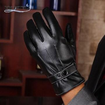 手袋 メンズ 革手袋 レザー グローブ スマホ手袋 ブラウン