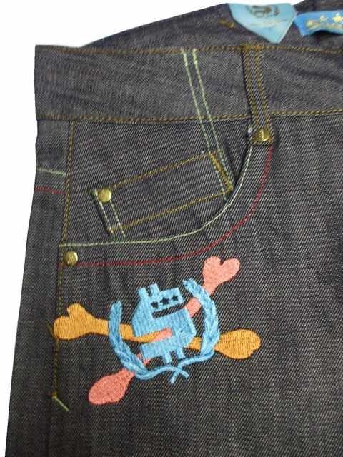 セールラス1新品SHMACKシュマック★バックデザインジーンズ★W34デニム < 男性ファッションの