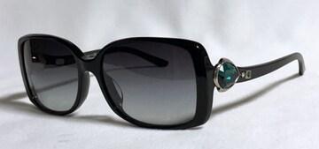 正規良レア ブルガリBVLGARI ビジュークリスタル装飾サングラス 黒×緑 男女兼用