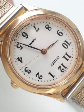 10671/シチズン★FORMAお洒落なゴールドタイプレディース腕時計格安