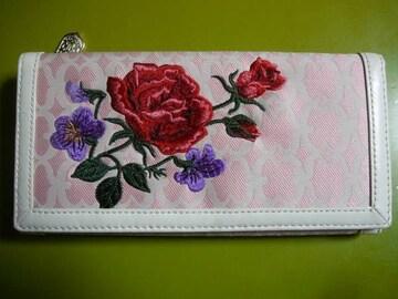 ケイタマルヤマ 長財布薔薇刺繍