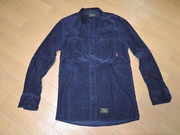 WTAPSダブルタップスDECKコーデュロイシャツ2紺系