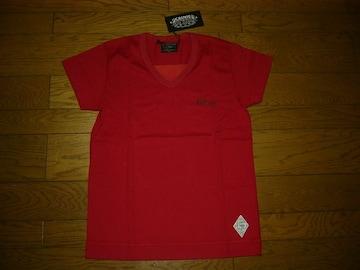 新品CRIMIEクライミーカットソーS赤VネックTシャツ肖像画