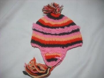 wb328 女 BILLABONG ビラボン 耳当て付き ニット帽