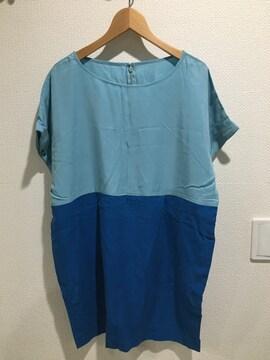 新品タグ付 SLY スライ 半袖 チュニック ワンピース トップス tシャツ バイカラー