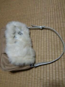 バッグスキンタイプ オシャレファーデザインバッグ