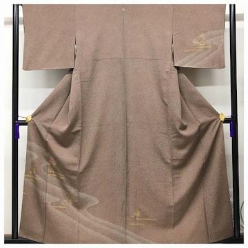 美品 やまと謹製 訪問着 正絹 特選 高級呉服 裄65.5 身丈160 紋