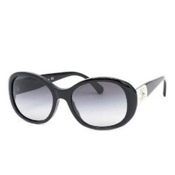 新品シャネル本革使いサングラス本物テンプルレザーココマーク