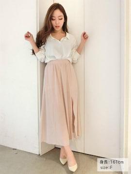 最新完売★リゼクシー★スリットロングスカート ピンク/F 新品タグ付 未開封 今季
