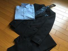 男児スーツ5点セット 150�p黒 〜卒業 フォーマル